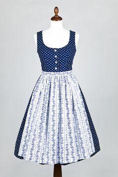 Understatedly charming. #blue #dirndl #dress #folk #costume #German #clothing