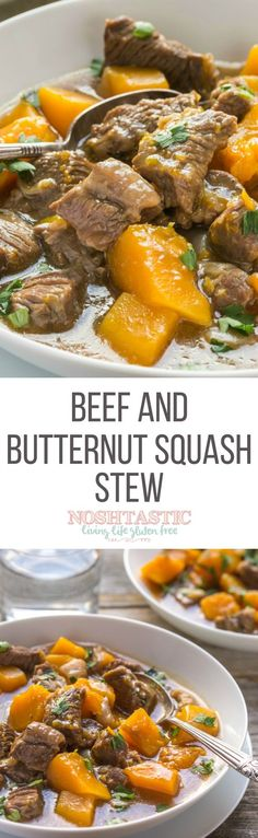 My Gluten Free Beef Stew Recipe with butternut squash is easy to cook & is Paleo, Gluten Free, Low Carb. Can be cooked in slow cooker or crockpot. (whole 30 instant pot nom nom paleo) Gluten Free Beef Stew Recipe, Paleo Recipes, Real Food Recipes, Crockpot Recipes, Soup Recipes, Cooking Recipes, Crockpot Veggies, Potatoes Crockpot, Mince Recipes