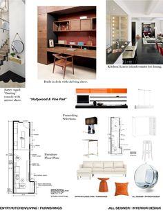 concept board for living room. | jill seidner interior design