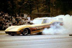 The Bayou Shaker Corvette Funny Car burnout