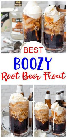 Alcoholic Root Beer Float, Alcoholic Drinks Vodka, Fruity Alcohol Drinks, Alcohol Drink Recipes, Beer Recipes, Punch Recipes, Beer Mixed Drinks, Easy Mixed Drinks, Beer Ice Cream