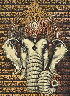 ☯☮ॐ American Hippie Psychedelic Art ~ Eastern Elephant - OBEY Shepard Fairey street artist . . revolution OBEY style, street graffiti, illustration and design posters.
