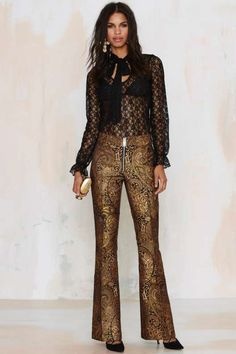 Nasty Gal Go for Baroque Flared Pants - check out my blog handlethisstyle.com