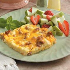 Breakfast Casserole - This is a good breakfast dish when you're short on time. It's simple to prepare and can be made early or even frozen until needed
