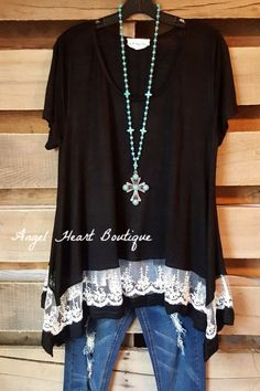 Set On The Classics Tunic - Black - Umgee - Tunic - Angel Heart Boutique