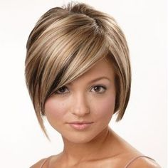 My hair has looked almost exactly like this before... and I think it's going back to this style. LOVE the chunky highlights!!!