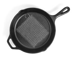 Cast Iron Cleaner Stainless Steel Chainmail Skillet Pan Scrubber XXL Lightweight #CastIronCleanerChainmailScrubber