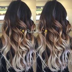 Hair dye tips, dye my hair, new hair, balayage highlights, blonde balay Hair Dye Colors, Ombre Hair Color, Hair Color Balayage, Hair Highlights, Bayalage On Dark Hair, Blonde Balayage, Haircolor, Dyed Blonde Hair, Brown Blonde Hair