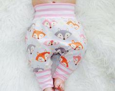 fox baby pants harem style in jersey knit slim by ShopPamplemousse