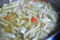 Chicken-N-Noodles over Mashed Potatoes | SavoryReviews.com