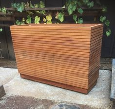 Old World Redwood Planter Box Versailles Orangeries Planter Tall Planter Boxes, Outdoor Planter Boxes, Tall Planters, Wood Planter Box, Raised Planter, Modern Planters, Wood Planters, Florence Knoll, Front Yard Planters