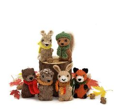 knit forest animals