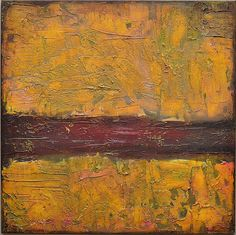 Original Abstract Acrylic Painting Yellow Ochre, Red, Green, Pink, Orange, Brown, Umber, Textured, 24 x 24, Expressionist, by Ann Langlois