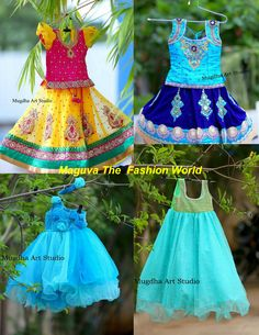 Pretty kids collection by Mugdha's For orders/enquiries http://www.maguvathefashionworld.com/2014/09/pretty-kids-collection-by-mugdhas.html#.VBzTITjF8kM