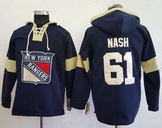 Rangers  61 Rick Nash Navy Blue Pullover Hoodie Stitched NHL Jersey.  Lillianjerseys · New York ... 4269dfb93