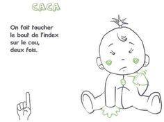 signe avec bébé CACA