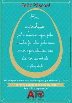 Equipe #ATOCondominios deseja a todos uma ótima e abençoada #FelizPascoa !