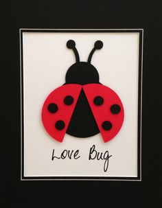 8x10 Lady Bug - Personalized, Picture in a 11 x 14 Mat - Garden Series, Paper Art - Childrens Decor. $22.00, via Etsy.
