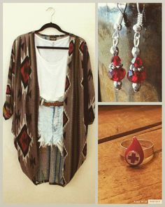 """""""Red Hot Looks!! www.spruceandpinejewelry.com"""""""
