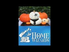 No-Carve Pumpkin Ideas For Halloween - Halloween is almost here! The Home Wizards have great ideas for decorating beautiful pumpkins without messy carving! Save the mess and potential danger for kids with these great ideas and tips for Halloween pumpkin decorating.