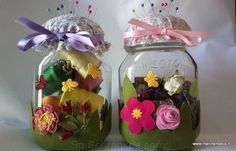 idée lg comentario reciclar frascos de nutella Nutella, Bottles And Jars, Diy, Mamma, Organization, Google, Feltro, Decorated Bottles, Jars
