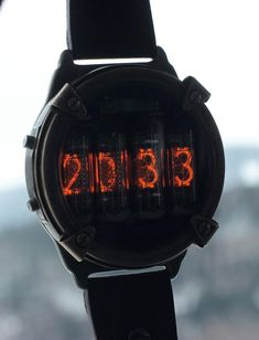 Nixie watch, Metro nixie watch style self made, accelerometer activat Swiss Army Watches, Old Watches, Watches For Men, Mens Digital Watches, Casual Watches, Nixie Tube Watch, Deep Silver, Titanium Watches, Watch Service