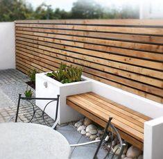 80 awesome modern garden fence design for summer ideas garde Garden Wall Designs, Small Garden Design, Building A Pergola, Pergola Plans, Pergola Ideas, Pergola Roof, Outdoor Pergola, Pergola Kits, Outdoor Sofa