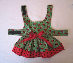 XSmall Ladybug DOG HARNESS DRESS Puppies and small by PawLane