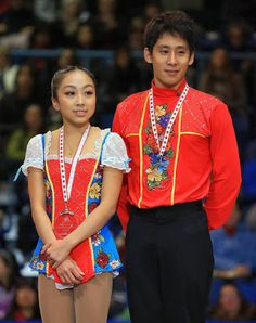 """Nick Verreos: ICE STYLE.....Skate Canada 2013 Costumes Recap Part One: Ladies and Pairs! Sui Wenjing and Han Cong China, Free Skate: For their Free Skate to """"Kalinka"""" (Russian Folk Music)"""