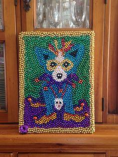 Mardi Gras blue dog