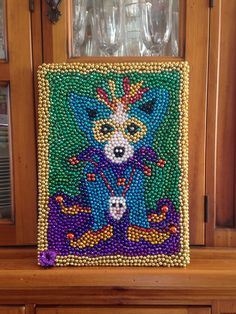 Mardi Gras blue dog