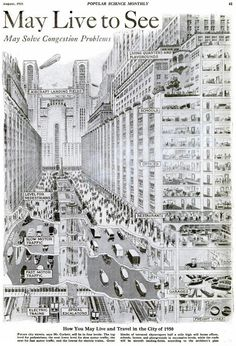 Como imaginaban la ciudad futurista de 1950 en 1925