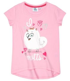 The Secret Life of Pets Girl's short sleeve top T-SHIRT 3-10 years - Pink