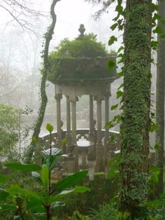 Gothic Revival garden folly.