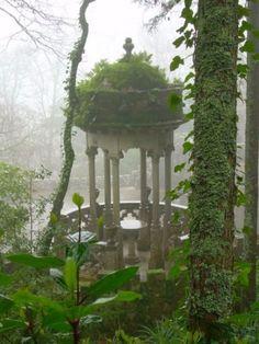 Gothic Revival garden folly.