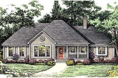 House Plan 406-231.  2035 sf 1 story, 4 bedrooms, 3 bath with 3-car garage.  Large secondary bedrooms.