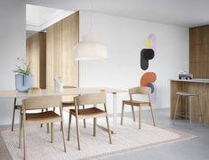 Muuto Strand pendant, open 60 cm Side Chairs, Dining Chairs, Dining Table, Wooden Chairs, Dining Rooms, Modular Shelving, Adjustable Shelving, Muuto, Lounge Chair