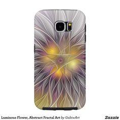 Luminous Flower, Abstract Fractal Art Samsung Galaxy S6 Case