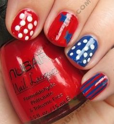 This unique design is fun and fresh for the fourth! From Pinterest/Alllacqueredup.com