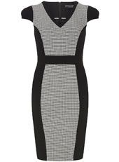 Dogtooth pencil dress