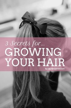 how to make your hair grow faster {easy as 1, 2, 3...}