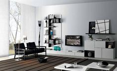 contemporary lacquered TV wall unit FUSION 18 GAB