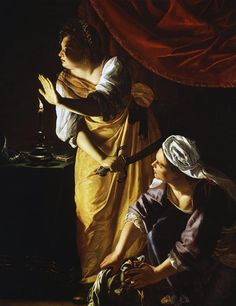 Artemisia Gentileschi. Judith and Maidservant with the Head of Holofernes. c. 1625.