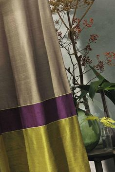 LOVE this color combination for drapery panels.