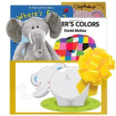 Good night gorilla gift baby gifts pinterest good night elephant themed baby gift box 5995 has been a popular bestseller and includes three board books negle Image collections