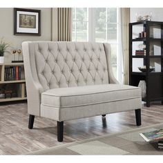 """Banquette 52"""" Tufted Settee"""