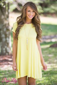 Let's Just Relax Yellow Dress