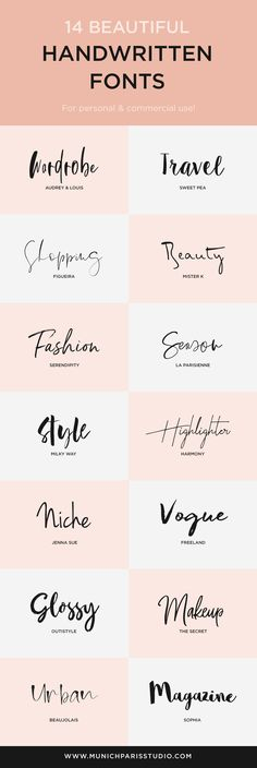 14 beautiful hand-lettered fonts for logo & branding vogue logo – brand logos - anfängliches Tattoo Handwritten Fonts, Calligraphy Fonts, Cursive Fonts, Calligraphy Alphabet, Word Fonts, Penmanship, Modern Calligraphy, Typography Quotes, Typography Inspiration