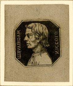 Portrait of the (in)famous Niccolo Machiavelli (from whose name we get the word 'Machiavellian'), author of 'The Prince' - a political treatise that earned him notoriety. Historical Fiction, British Museum, 16th Century, The Guardian, Sculptures, Drawings, Prints, Painting, Writers