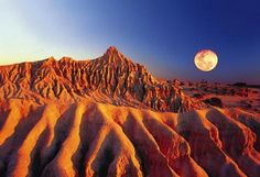 The moonlike landscape of Mungo National Park, Australia